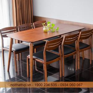 Top 5 bộ bàn ăn 6 ghế gỗ sồi đẹp Nga đẹp bất biến bạn nên mua ngay