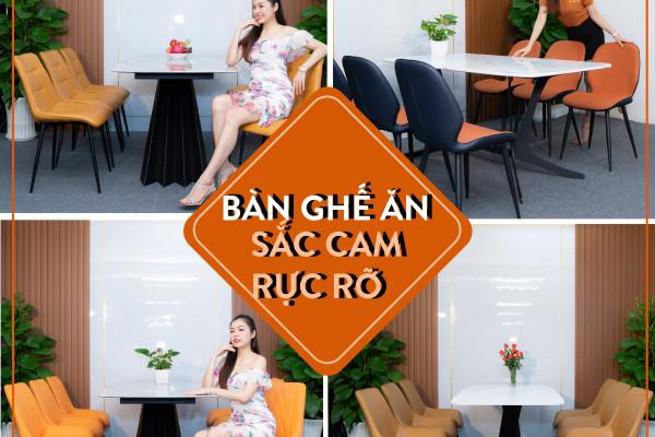 Gợi ý 4 mẫu bàn ghế ăn với sắc cam rực rỡ đầy tinh tế