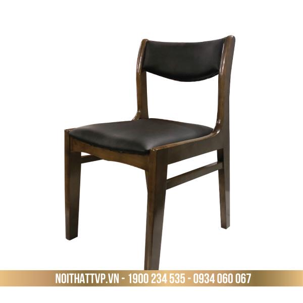 Ghế BELLA gỗ cao su - đệm bọc da Hàn Quốc cao cấp TVP - 18 - màu gỗ óc chó