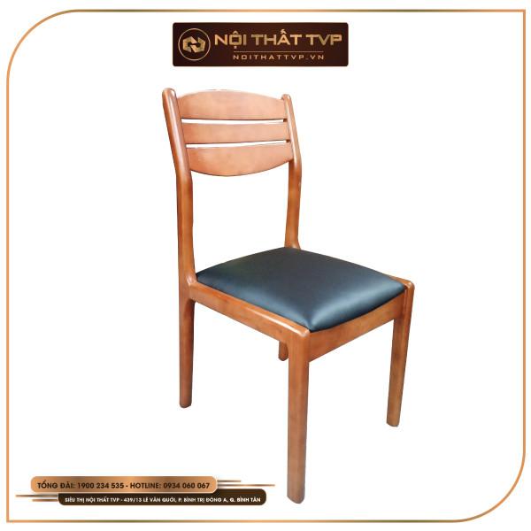 Ghế ăn Mega 3 nan gỗ tự nhiên, bọc đệm da cao cấp TVP - màu nâu