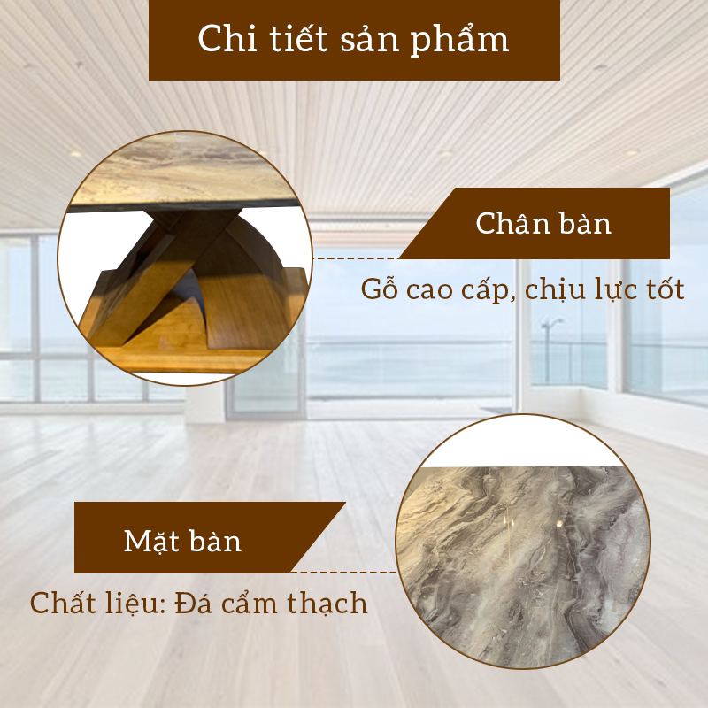 Cấu tạo bàn đá cẩm thạch