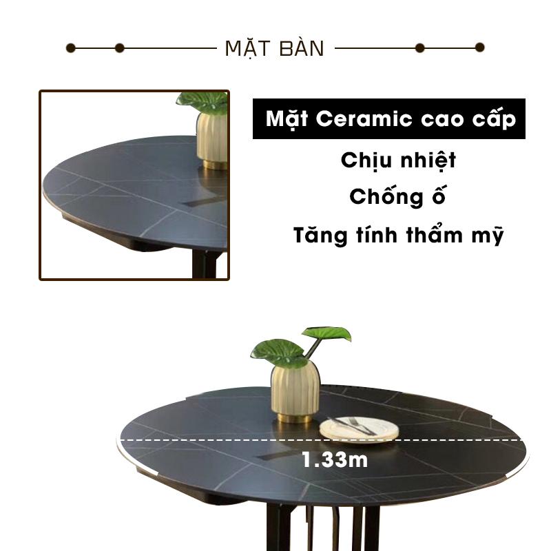 Mặt bàn Ceramic chống ố