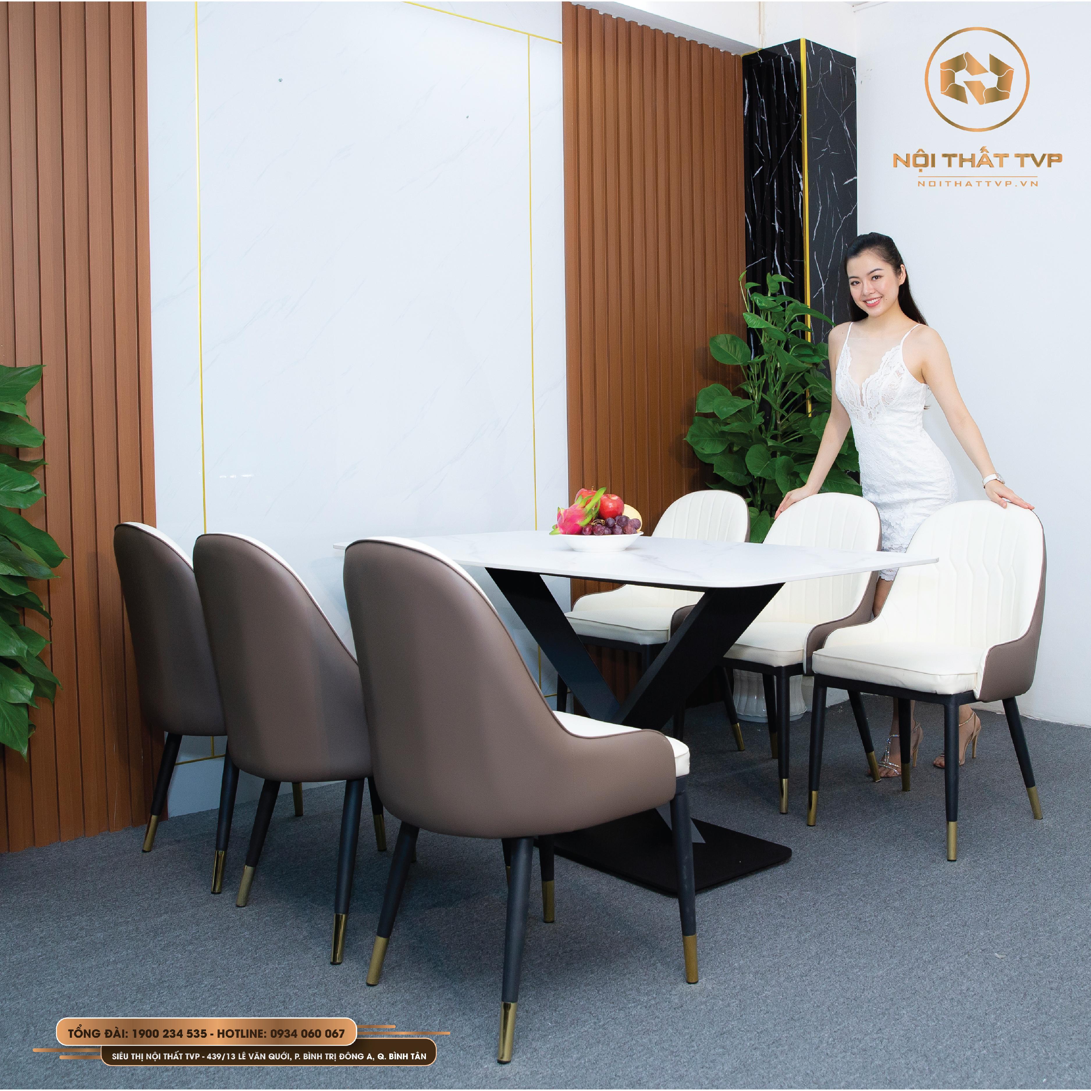 Bộ bàn ăn 6 ghế Otomo